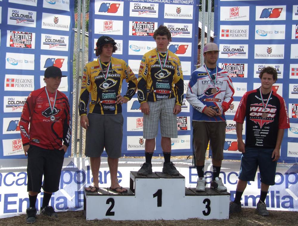 Il podio: Rankin, Masters, MacDonald, Suding e Scoles