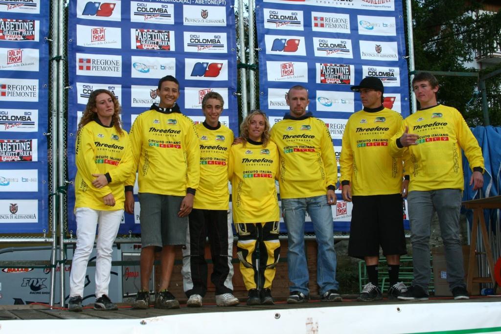 I vincitori di Coppa: Ghione, Caire, Colombo, Perin, Ducci, Rankin e MacDonald