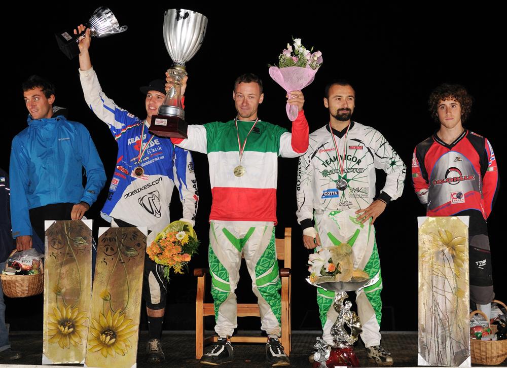 Il podio di Rossana: Gambirasio, Cosseta, i fratelli Zampieri e Fantoni (foto Luca Orlandini)